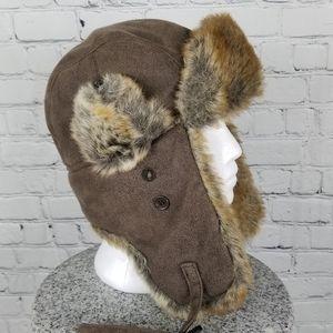 WIND RIVER   faux fur trapper hat